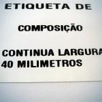 Etiqueta de composição