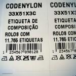Nylon resinado para etiqueta de composição